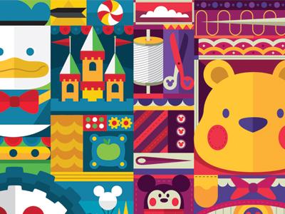 Disney mural shot