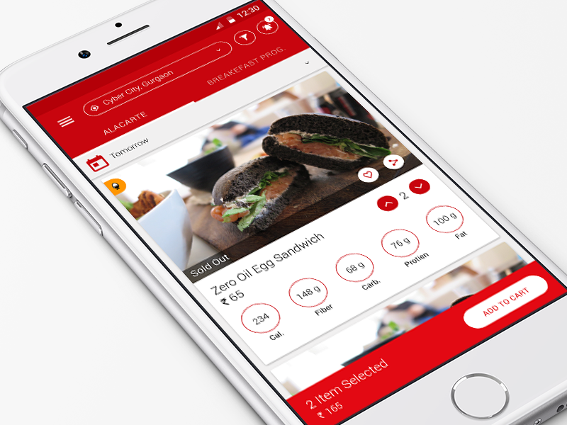Health oriented food app health yummy android ios app food