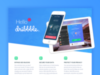 Hello Dribbble from SaferVPN