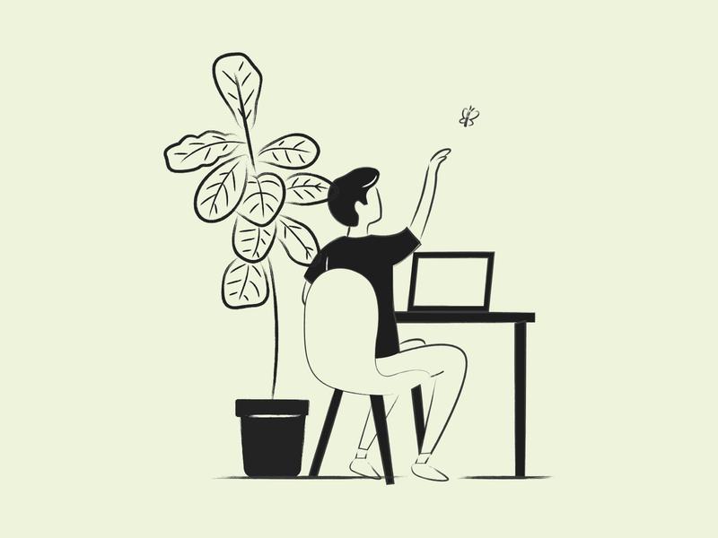 Bugfixing Illustration simple minimal lines color ux identity vector illustration inspiration design