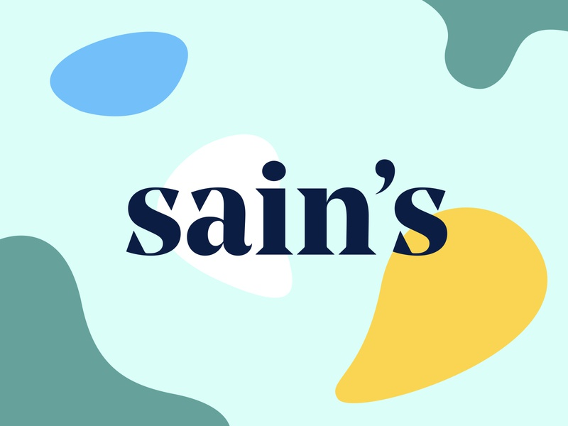 Lettermark for Sains flat inspiration typography minimal identity color vector design branding logo