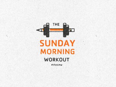 Sunday Morning Workout icon design minimal branding lines flat vector logo