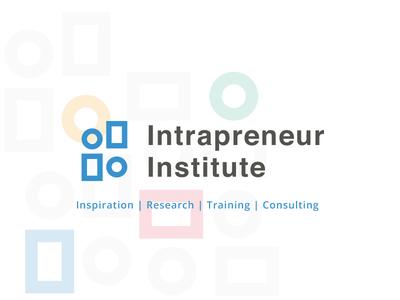 Intrapreneur Institute identity typography logo icons vector flat system branding