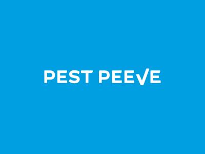 Brandmark for Pest Peeve logotype identity minimal inspiration typography lettermark logo vector design branding