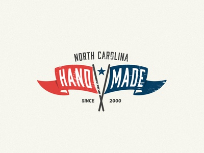 NC Handmade brand clothing t-shirt simple color inspiration identity lettering vector design