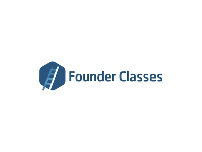 Brandmark for FounderClasses color inpsiration typography icon vector design brand brandmark logo