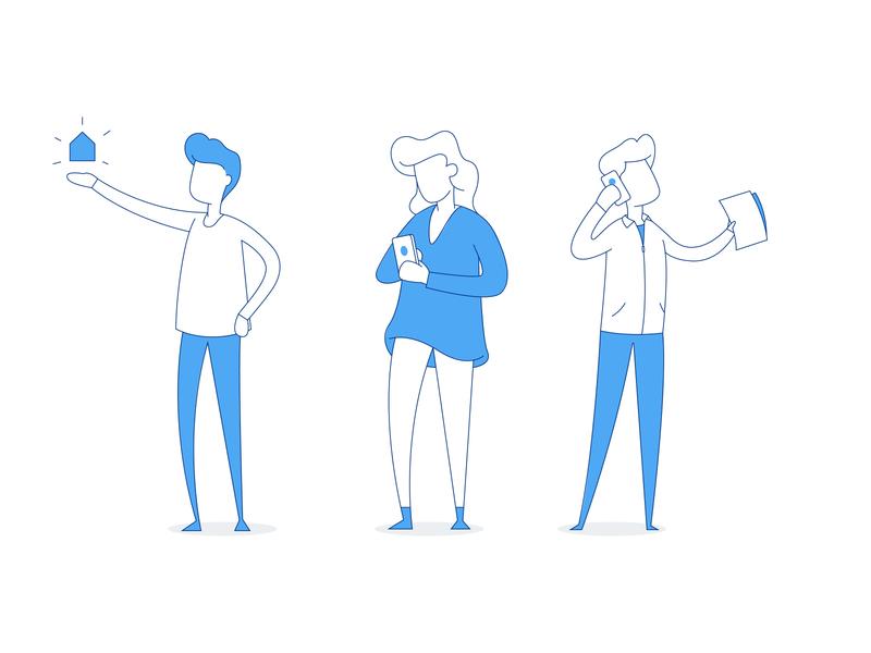Website Illustrations for Till design lines minimal identity inspiration color illustration branding