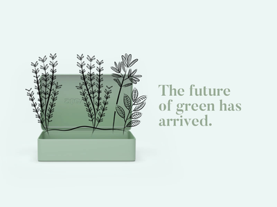 The future of green is coming! app website plant simple animated gif animation illustration branding inspiration design