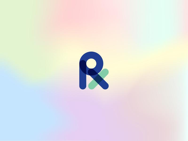 Vita RX minimal icon color inspiration lines strategy consulting online shop identity branding logo design