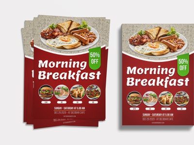 Food Flyer Design | Morning Breakfast vector illustration design food poster food brochure a4 brochure a4 flyer restaurant flyer design restaurant flyer food illustration food and drink food graphic design flyers flyer template flyer artwork flyer design flyer