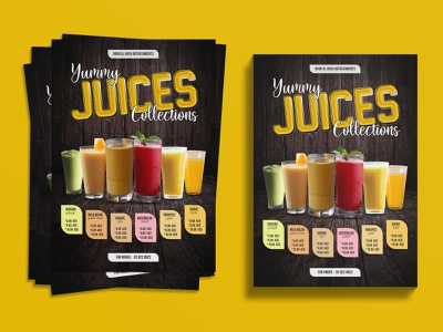 Juice Flyer Design combo orange juice orange banana avocado mango food illustration food and drink foodie food juices juicer juice bar juice logo juice flyers flyer template flyer artwork flyer design flyer