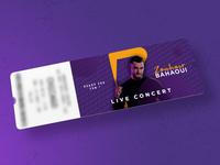 Concert Ticket Design Artist