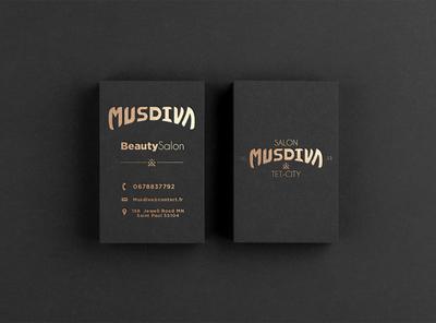 Business Card design - musdiva illustrator letter brand design artist graphicdesign logo designer designer brand identity identity design logo design branding