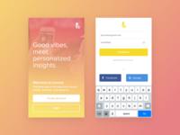 Lioness - iOS Landing & Login