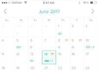 Calendar 1x