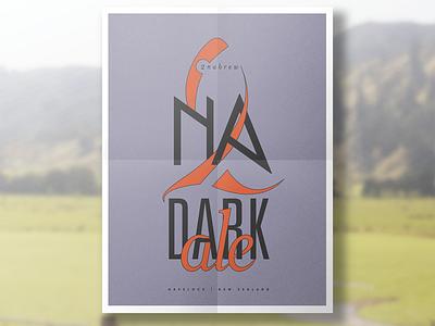 2nabrew |  Dark ale ale identity logo havelock zealand new drinking brew 2na tuna poster beer
