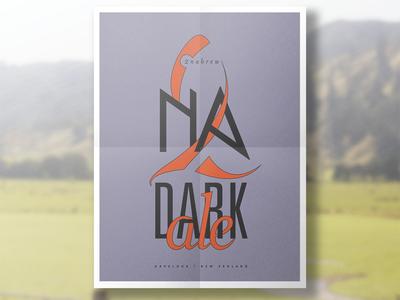 2nabrew    Dark ale ale identity logo havelock zealand new drinking brew 2na tuna poster beer
