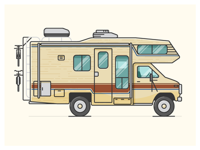 Camper Poster WIP vehicle 83 arrow tioga camper