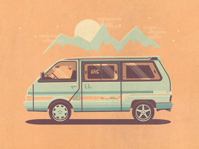 Vome the Mobile Home hippies travel vehicle illustration car zealand new 1989 largo nissan vome
