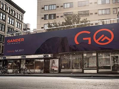 Gander Outdoors Billboard Concept logo contest gander outdoors icon logo design branding signage billboard