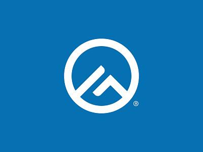 Gander Outdoors Logo mountain circle abstract branding brand gander outdoors icon logo design