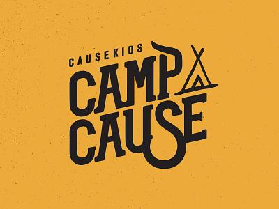 Camp Cause typography type script hand lettered lettering handlettering logo logo design