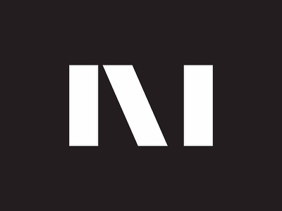 Mags Media black and white letter m branding abstract minimal logo design