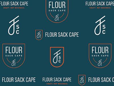 Flour Sack Cape f cape shield logo badge logo design