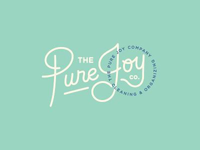 The Pure Joy Co. graphic design branding logo design logo script handlettering handlettered logo