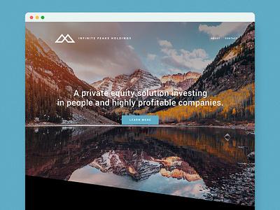 Infinite Peaks Holdings mountain logo mountains venture capital startup graphic design logo design logo brand identity design brand identity branding website development web design