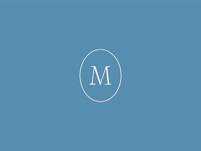 Drew Morris classic real estate realtor badge circle monogram m logo design logo
