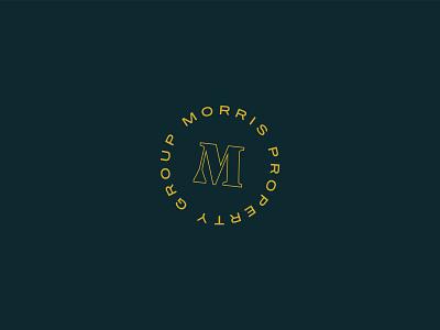 Drew Morris real estate realtor brand identity branding circle m badge logo design logo