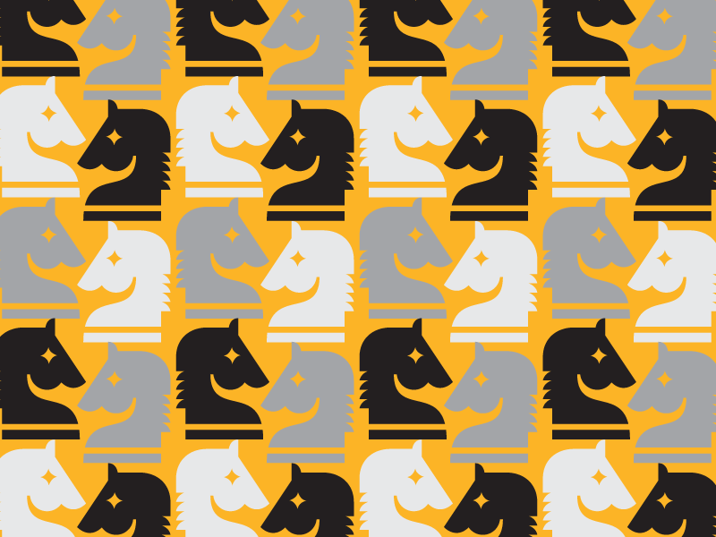 horses (of courses) horse pattern illustration icon