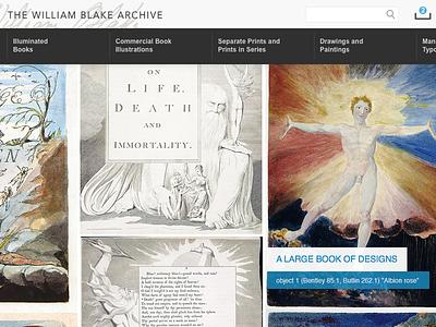 Blake Archive website art history