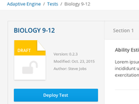 Adaptive Test