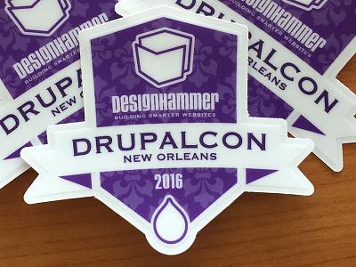 Drupalcon Pack new orleans purple sticker drupalcon drupal