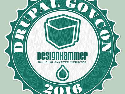 Drupal Govcon 2016 sticker green drupal money