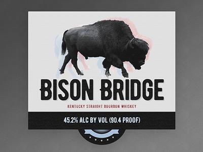 Bison Bridge Bourbon Label label bourbon bison