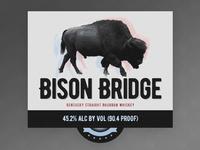Bison Bridge Bourbon Label