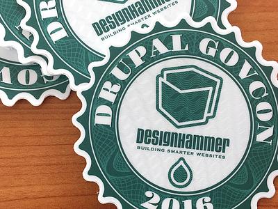 Drupal Govcon Sticker money green drupal sticker