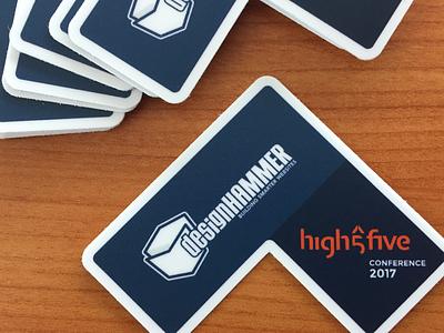 high5five Conference 2017 dark blue conference sticker