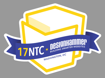2017 Nonprofit Technology Conference Sticker conference sticker blue yellow