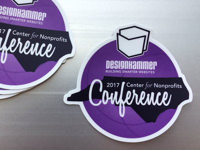 NC Center for Nonprofits Conference Printed Sticker nonprofits sticker conference