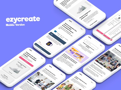 Ezycreate Mobile App ios design web application design landing page design ui ux uidesign web app design saas design saas app mobile ui ui design app ui mobile app design