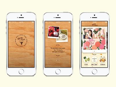 Skinfood App skinfood app iphone user interface design