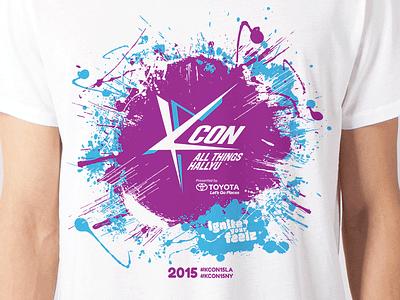 KCON 2015 Official T-Shirt tshirt design kcon