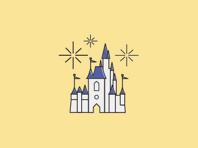 Disney Icons — Cinderella's Castle wdi magic kingdom graphic design disney icons design