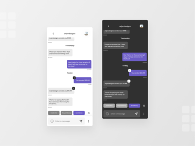 Crypto Saving App Chat Screen message app chat crypto 10ddc ux ui ux ui typography mobile minimal design app