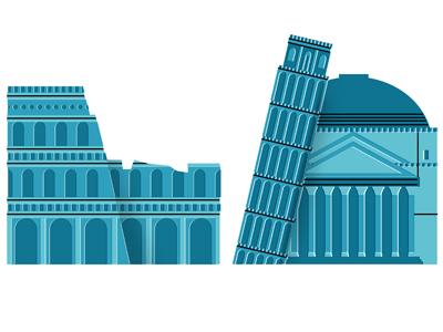 Some Italian landmarks