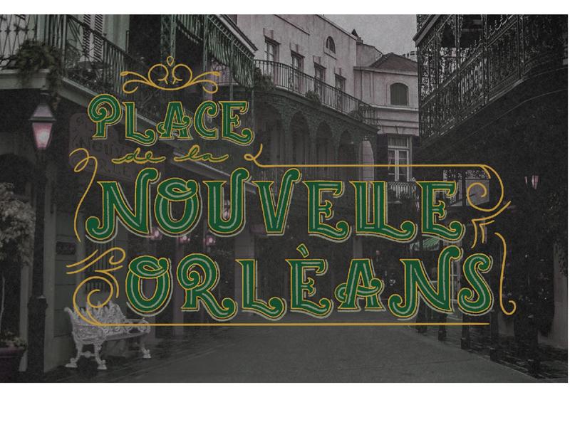 New Orleans Square vintage font disneyland new orleans new orleans square vintage lettering graphic design lettering handlettering procreate typography design